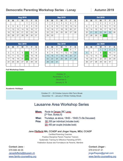 Lonay PD Calendar TBD